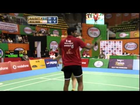 Mogensen & Carolina Vs Jwala & Diju | Mixed Doubles | Banga Beats Vs Krrish Delhi Smashers 2013