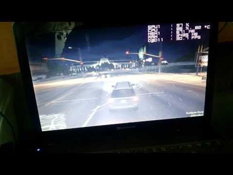 Ноутбук, Packard Bell EasyNote, Core i5 2450m 2.5 Ггц GT 620M тест в GTA 5