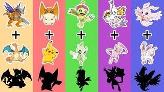 Digimon + Pokemon - AMAZING Fusion Fanart #1