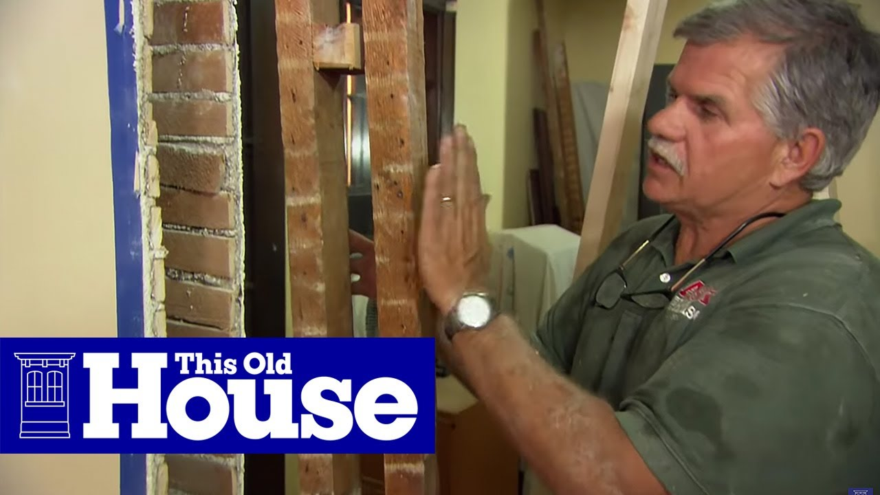 How to remove a load bearing wall this old house youtube for Can a load bearing wall be removed
