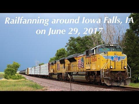 Railfanning around Iowa Falls, Iowa on June 29, 2017