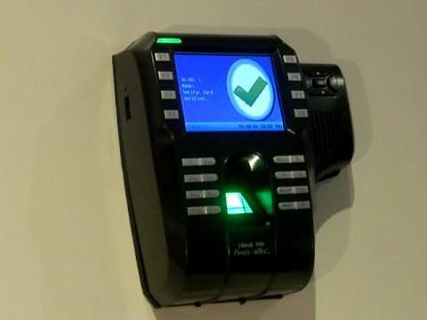 Fingertec Fingerprint Time Clock Ikiosk 100 Youtube