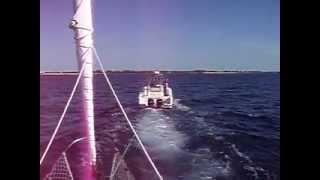 КРУГОСВЕТКА. Карибы. Заход на Grand Bahama.(22 февраля, 2012 г. Переход: Bermuda - Grand Bahama. Карибское море. Буксировка в Port Lucaya Marina, Grand Bahama. 1300 миль, чуть более..., 2012-03-09T00:56:37.000Z)