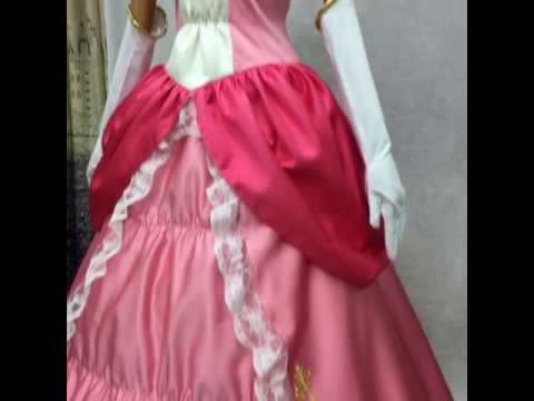 FM-Anime.com Super Mario / Super Smash Bros. 4 Princess Peach Pink Dress Cosplay Costume & FM-Anime.com Super Mario / Super Smash Bros. 4 Princess Peach Pink ...