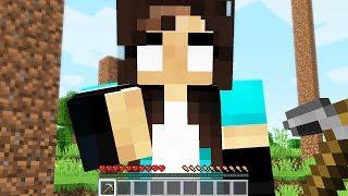 noob Girl found my SECRET Minecraft world