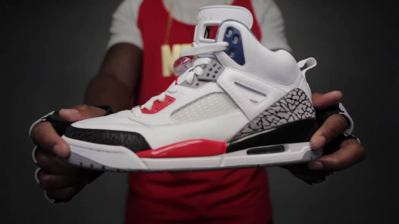 d9e494045128 Air Jordan Spizike - White   Fire Red - Black - YouTube