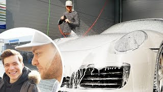 BESTE AUTOWÄSCHE mit dem Carporn KING und Porsche
