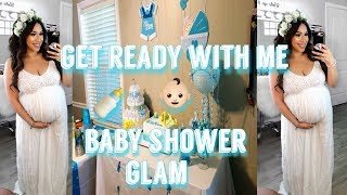 GRWM BABY SHOWER GLAM | Makeup & Outfit 👶🏻