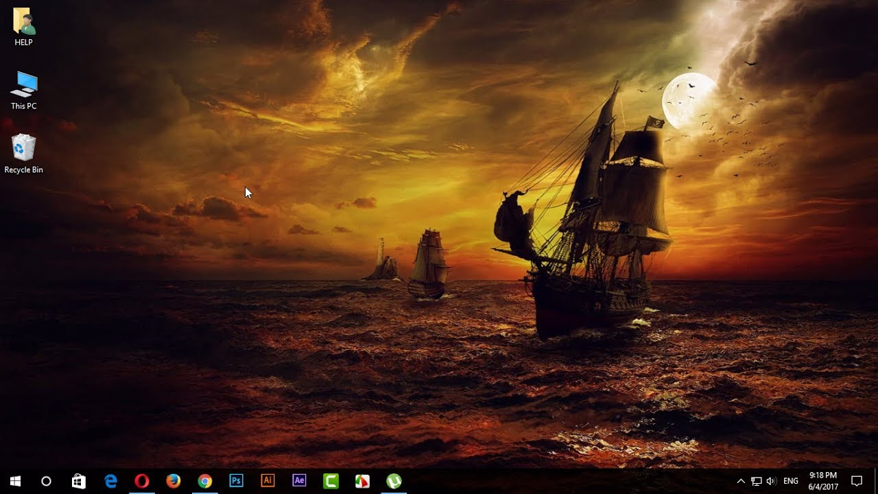 How To Use Animated Desktop Backgrounds Wallpaper Windows 7 8 10 Computer In Hindi Youtube