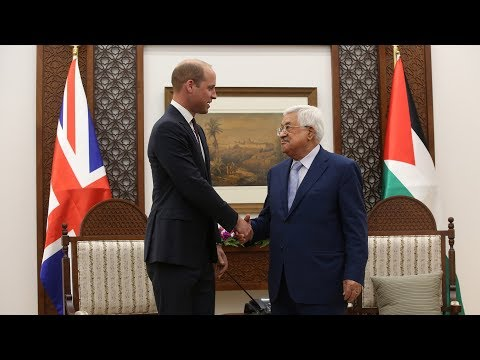 Prince William meets with Palestinian and Israeli leaders