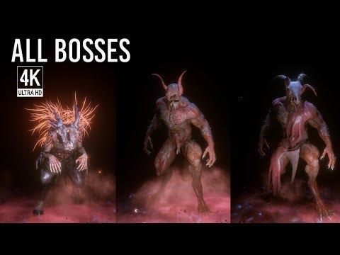 Agony - All Boss Fights / All Bosses & Ending (4K 60FPS)