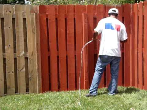 how to paint a wood fence youtube. Black Bedroom Furniture Sets. Home Design Ideas