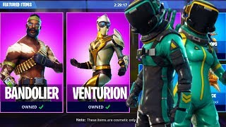 New TOXIC TROOPER and HAZARD AGENT Fortnite Skin! VENTURION, MOISTY MERMAN, BANDOLIER Skins SHOWCASE