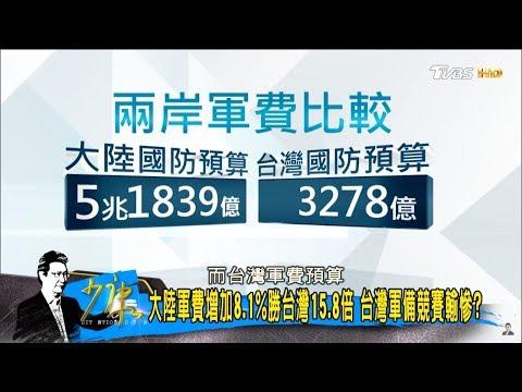 慘!大陸軍費「勝台灣15.8倍」賴清德:不是預算高就能打勝仗!少康戰情室 20180306