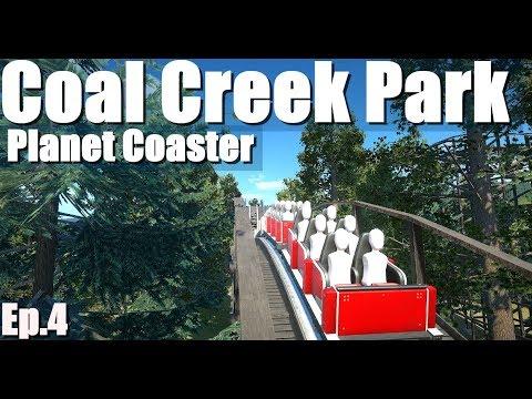 Building a wooden coaster | Coal Creek Park | Let's Play Planet Coaster #4