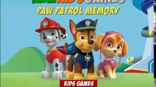 Мультик игра Щенячий патруль: Игра на память (Paw Patrol Memory)