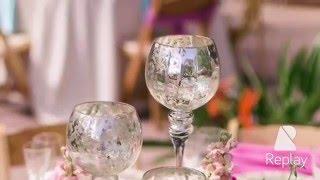 Оформления праздничного стола цветами!!!