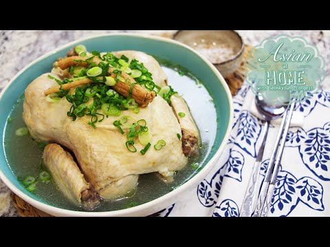 SamGyeTang Recipe : Korean Ginseng Chicken Soup, 삼계탕 (蔘鷄湯)