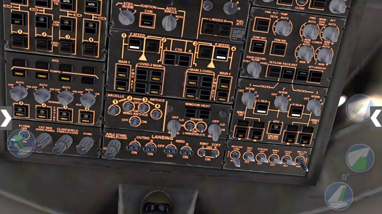 X-Plane Boeing 747 Cold & Dark Start Up