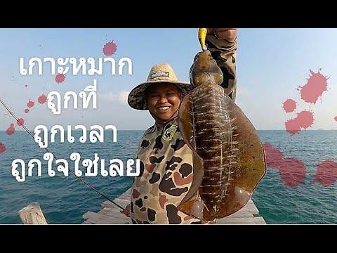 ตามหาหมึกไชส์ เกาะหมาก EP.1 (บนสะพาน ชินนาม่อน) Eging Thai