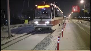 Трамваи на Макаровском мосту