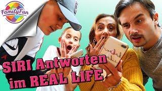 SIRI Antworten im REAL LIFE - Was wäre wenn ..? | + OUTTAKES - Family Fun