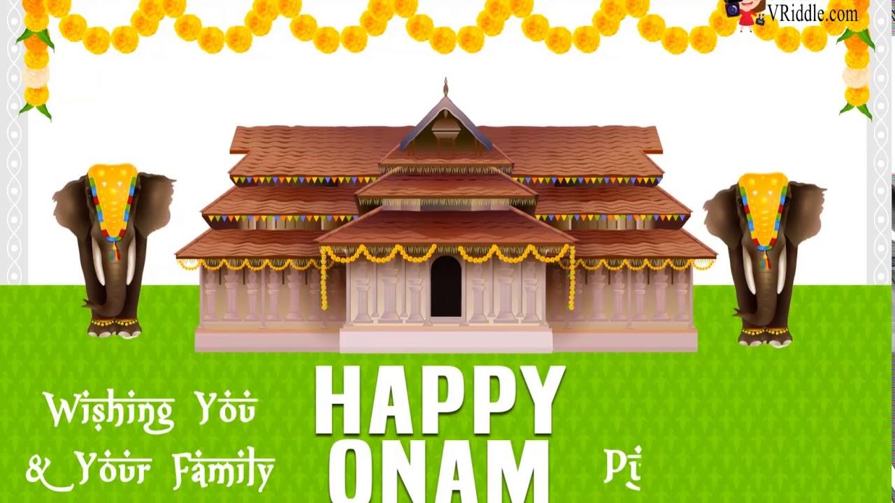 Happy Onam 2017 Greetings Wishes Animated Onam Greetings Youtube
