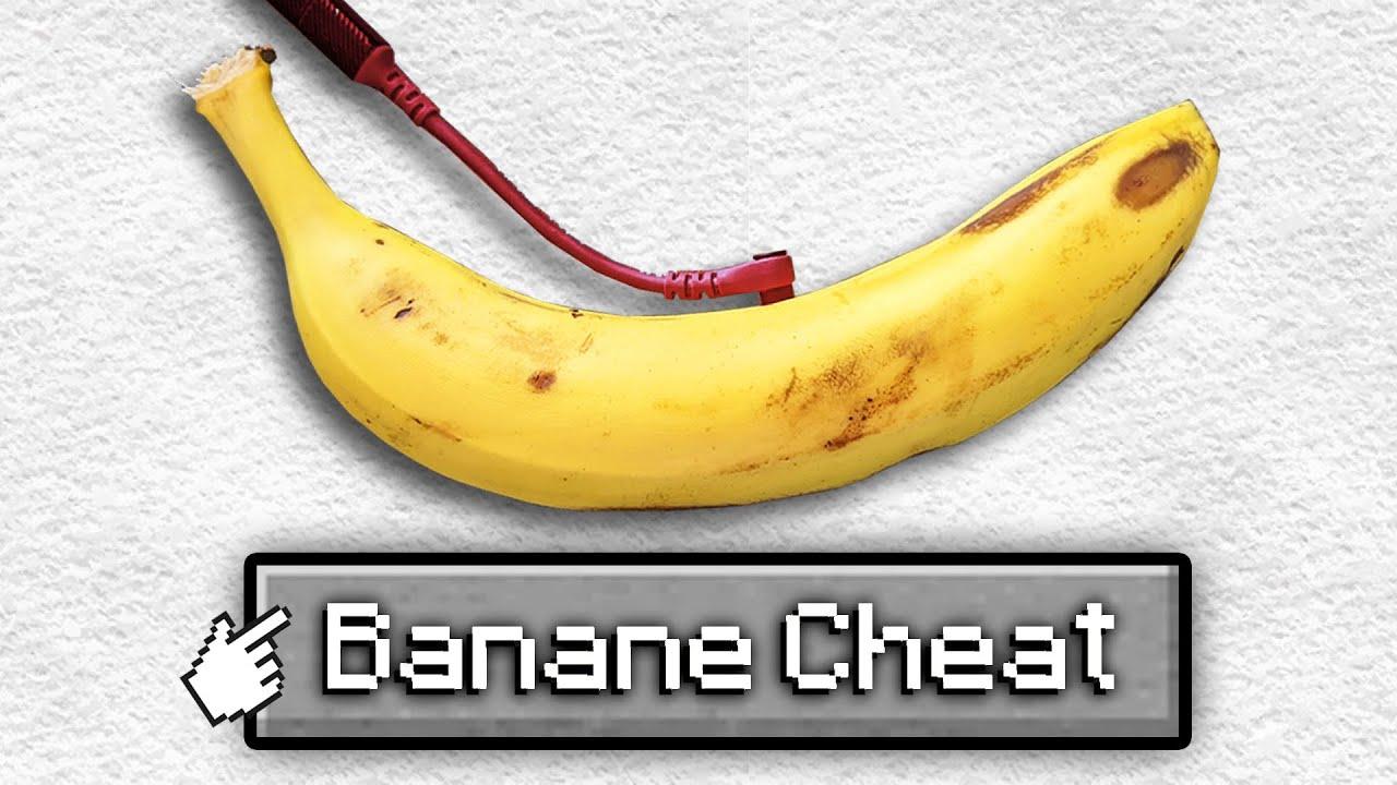 J'ai utilisé une BANANE pour tricher sur Minecraft... (c'est pas une blague)