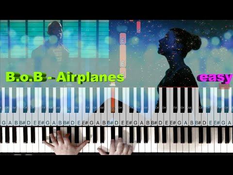 """""""Airplanes"""" by B.o.B ft. Hayley Williams - Piano EASY Tutorial"""