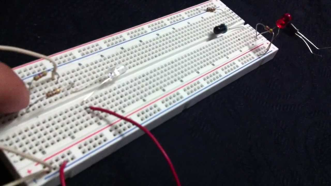 Circuito Emisor Receptor : Emisor y receptor de infrarrojo simples youtube