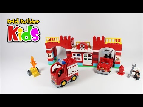 Lego Duplo 10593 Fire Station Lego Speed Build For Kids Youtube