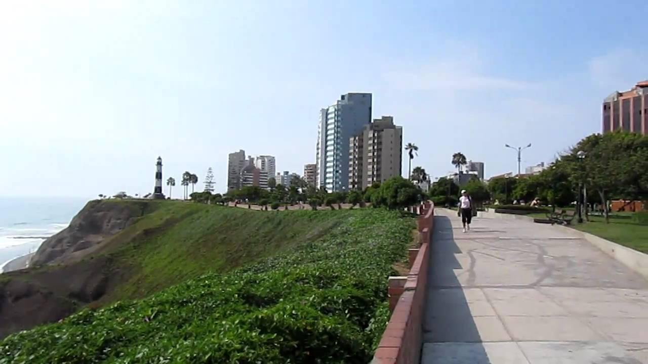 El Malecon In Miraflores Lima Peru Youtube
