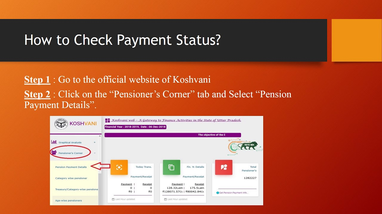 Koshvani Check Pension Payment Status Uttar Pradesh, UP ...