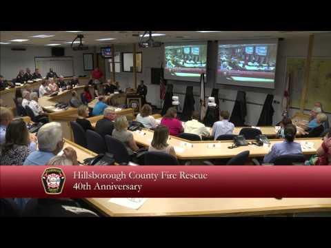 Hillsborough County Fire Rescue 40th Anniversary