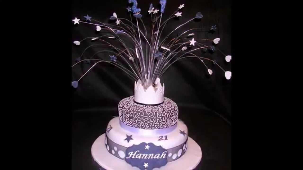 21st Birthday Cake By Thefoodventure Com Youtube