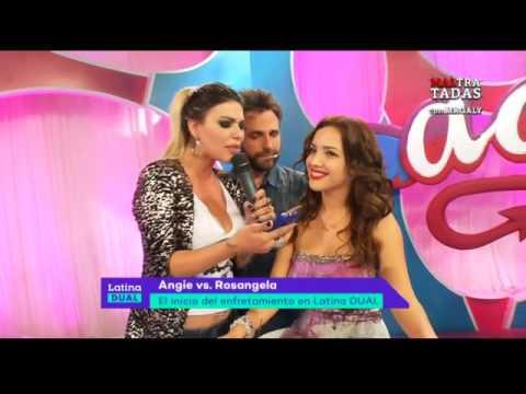 Latina Dual: así inició la pelea entre Angie Jibaja y Rosángela