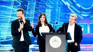 Cristina y Alberto presentaron en #Showmatch30Años la fórmula Fernández-Fernández