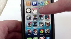 iPhone 5 - How to Create Folders for Apps