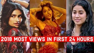 2018 Published Most Viewed Indian Songs in First 24 Hours | Hindi Punjabi Bollywood Songs
