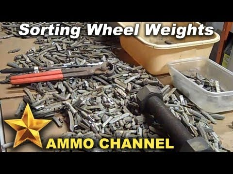 My OFFICIAL guide to sorting Wheel Weights for lead Bullet Casting - reloading lead cast bullets