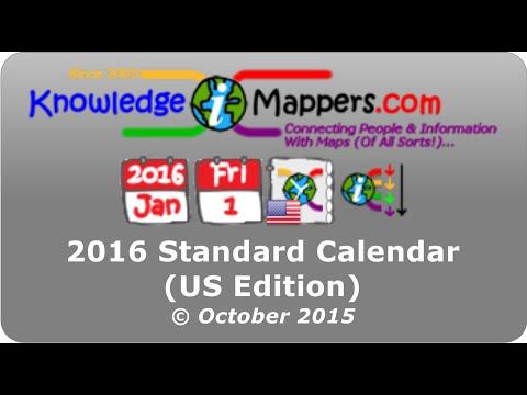 Calendar 2016 Standard US Oct15
