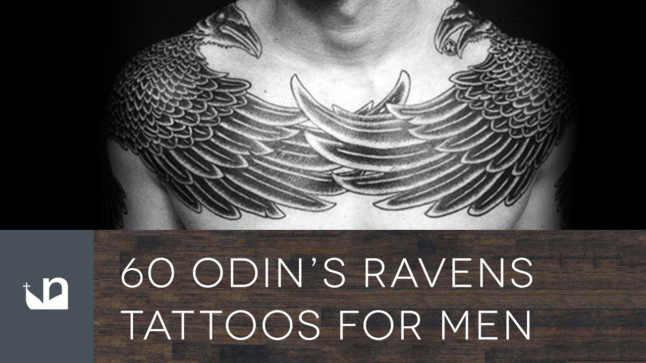Odin Tattoos: 60 Odin's Ravens Tattoos For Men