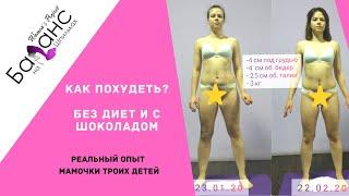 постер к видео Как похудеть? Без диет и с шоколадом. Отзыв Кристины о курсе Баланс на Шпильках