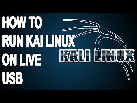 How to run Kali Linux on Live USB - #Tutorial