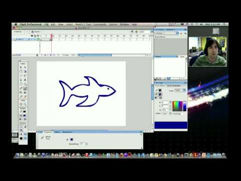 Shape tween - Macromedia Flash 8 easy step by step tutorial | FunnyCat.TV