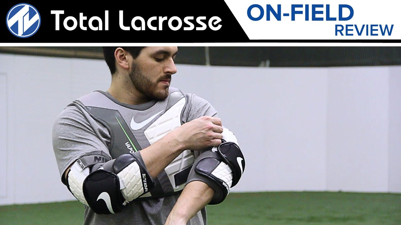 Nike Vapor Elite Arm Pad and Elbow Pad    On-Field Review. Total Lacrosse 84a2147b8b090