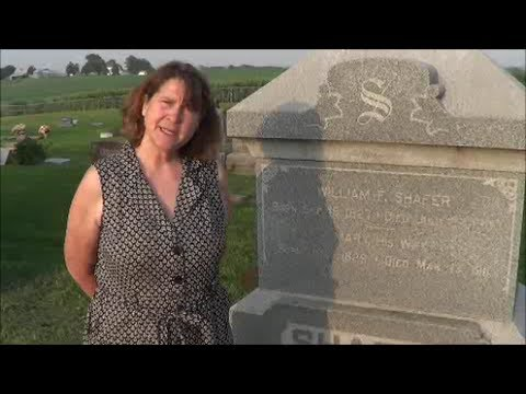 Stories of Shafers and McBeths told at Prairie Union Cemetery near Shubert, Nebraska by Sharla Cerra