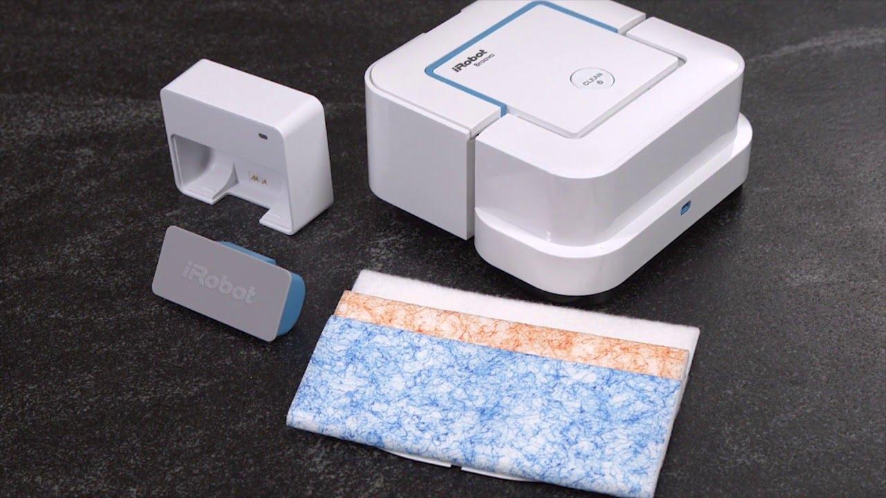 Battery and charging for irobot braava jet robot mop