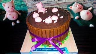 """Торт """"Поросята в грязи"""" / Cake """"Pigs in mud""""- Я - ТОРТодел!"""