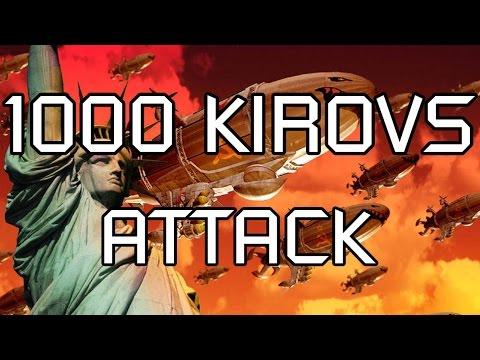 Red Alert 2 - 1000 Kirov Airships Attack